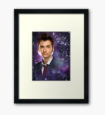 The 10th Doctor in Space Framed Print