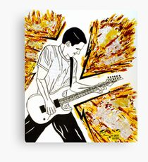 Calvin's Guitar is Electric! Canvas Print