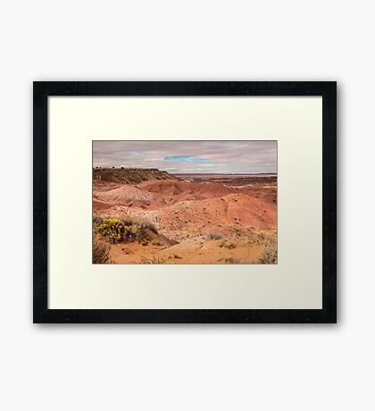 Painted Desert on a Cloudy Afternoon Framed Print