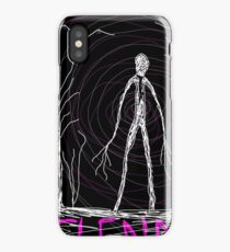 dark creepy slender man in forest on Halloween by Tia Knight iPhone Case