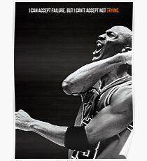 Michael Jordan Motivation Poster Poster