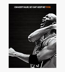 Michael Jordan Motivation Poster Photographic Print