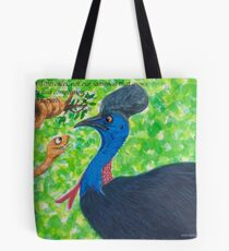 Taipan meets Cassowary; inspirational quotes Tote Bag