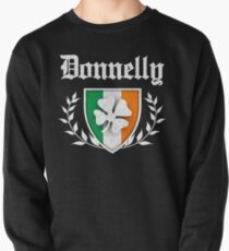 Donnelly Family Shamrock Crest (vintage distressed) Pullover