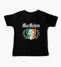 MacMahon Family Shamrock Crest (vintage distressed) Kids Clothes