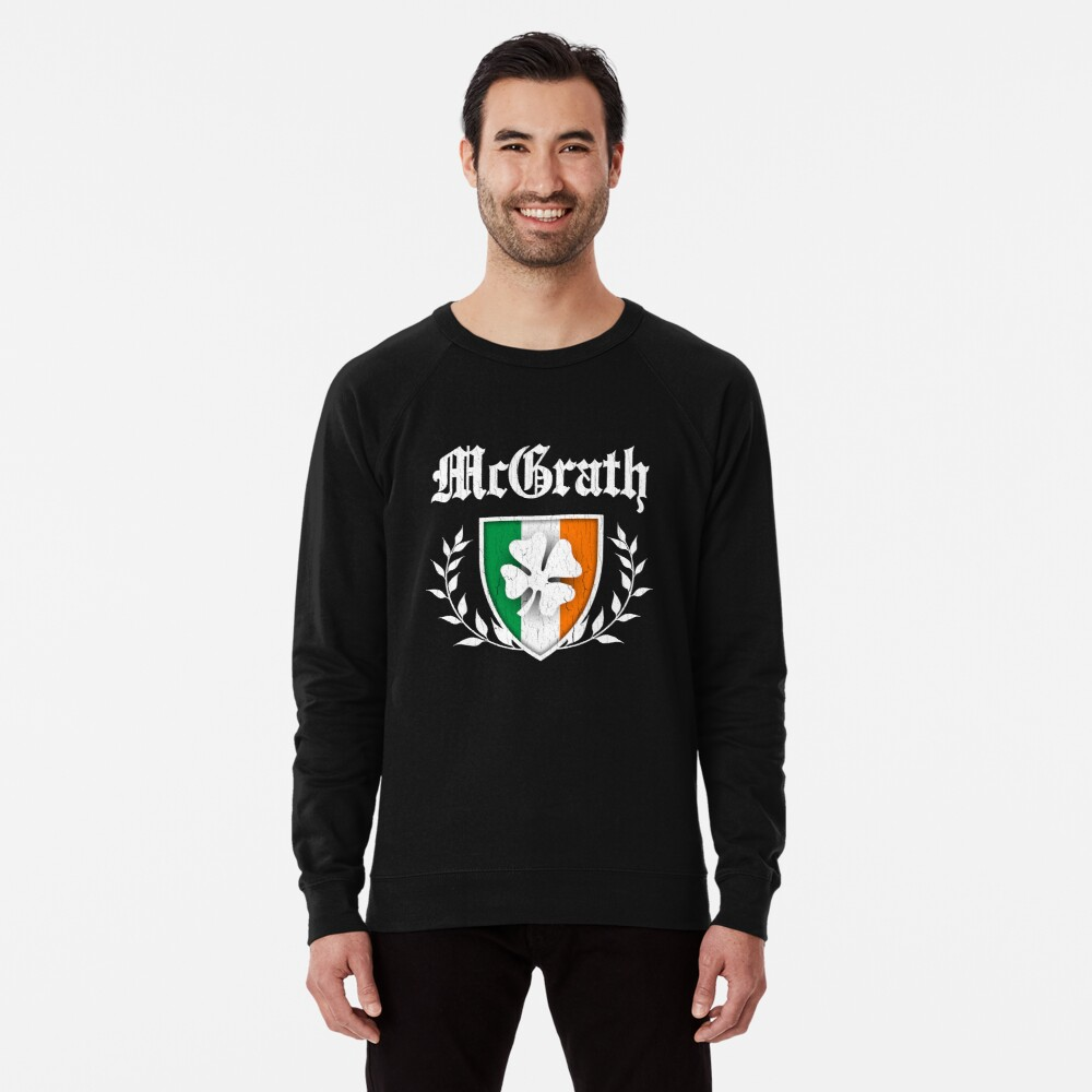McGrath Family Shamrock Crest (vintage distressed) Leichter Pullover