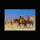 Arabs Crossing the Desert by cammisacam