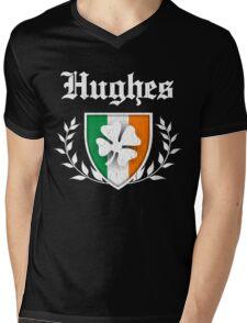 Hughes Family Shamrock Crest (vintage distressed) Mens V-Neck T-Shirt