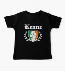 Keane Family Shamrock Crest (vintage distressed) Baby T-Shirt
