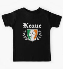 Keane Family Shamrock Crest (vintage distressed) Kids Tee
