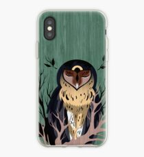 Wooden Owl iPhone Case