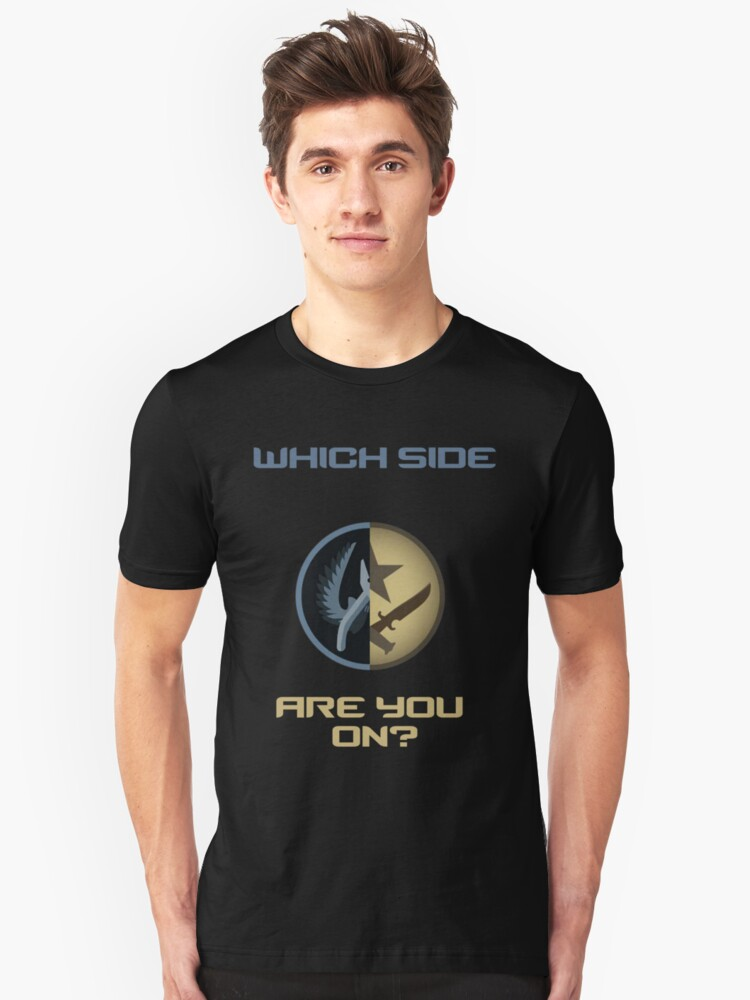 CSGO-Which side are you on?-Straight Unisex T-Shirt Front