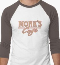 Monk's Cafe – Seinfeld, NY Men's Baseball ¾ T-Shirt