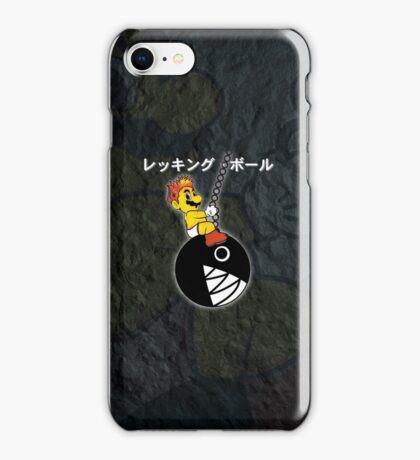 Mario Wrecking Ball  iPhone Case/Skin