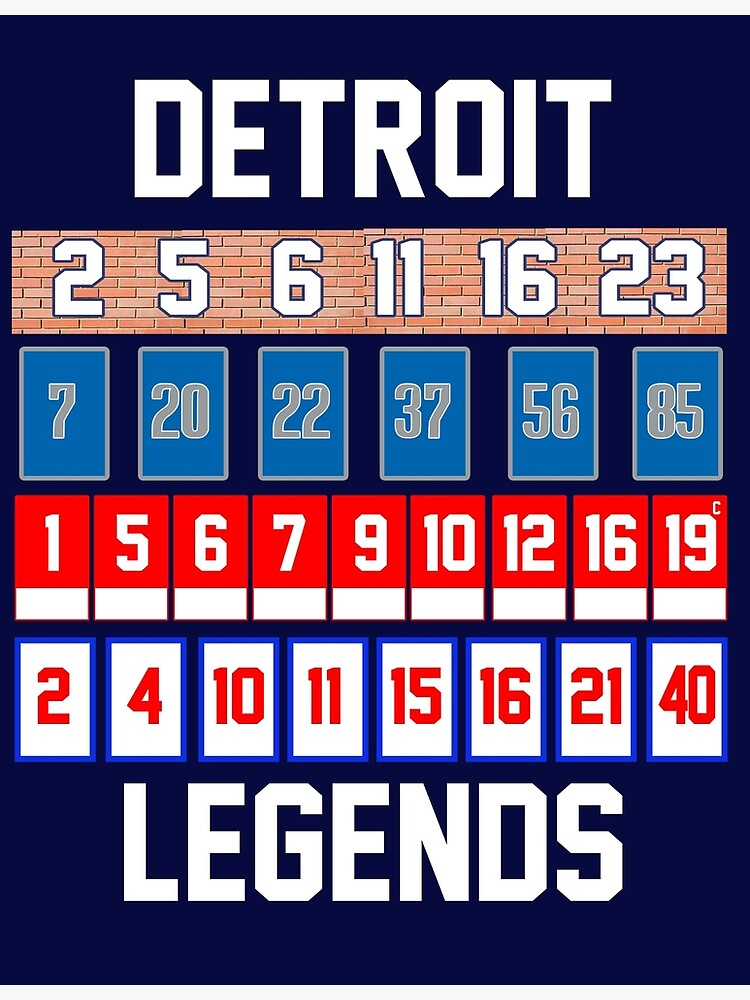 factory authentic 3c8ab 21543 Detroit Legends - Retired Numbers! | Poster