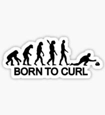 Evolution born to curling Sticker