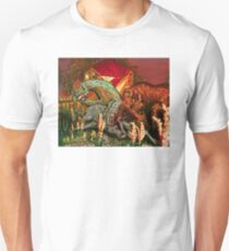 "bull, horse, and mare ""spooked"" T-Shirt"