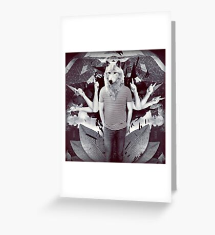 Opposite Flow Greeting Card