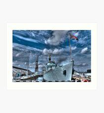 HMS Cavalier Destroyer Ship   Art Print