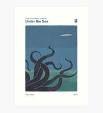 Twenty Thousand Leagues  Under the Sea - Jules Verne Art Print