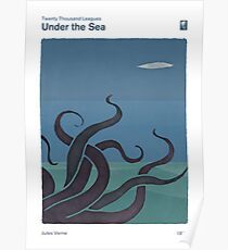 Twenty Thousand Leagues  Under the Sea - Jules Verne Poster