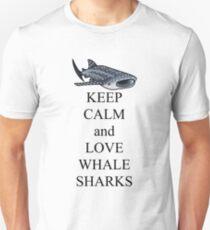 Bleib ruhig und liebe Walhaie Unisex T-Shirt