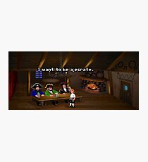 I want to be a pirate! (Monkey Island 2) Photographic Print