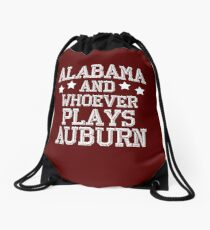 Alabama and Whoever Plays Auburn Drawstring Bag
