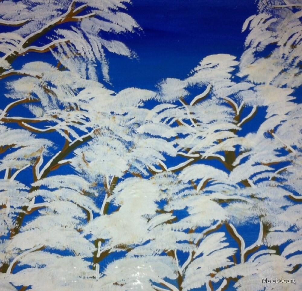 Winter in the Trees by Malabooart