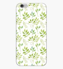 Watercolor leaves pattern iPhone-Hülle & Cover