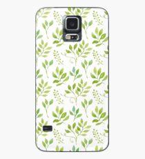 Watercolor leaves pattern Hülle & Klebefolie für Samsung Galaxy