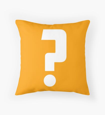 Question Mark - style 2 Throw Pillow