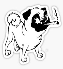 Smokin' Pug Sticker