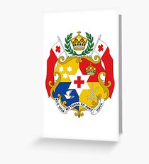 Coat of Arms of Tonga  Greeting Card