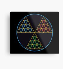 Toxic Tri-force Metal Print