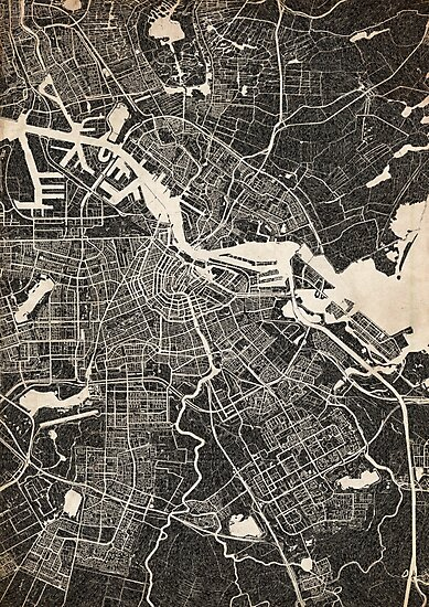 amsterdam map ink lines by InkMaps