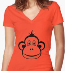 Monkey - Year of the Monkey 2016 Women's Fitted V-Neck T-Shirt