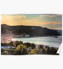Llandudno Bay and Great Orme at Sunset from Nant y Gamar Poster