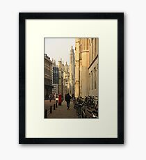 Cambridge Architecture Framed Print