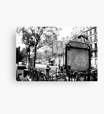 Paris Metro Station Canvas Print
