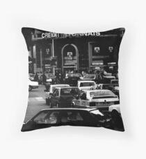Paris Rushhour Throw Pillow