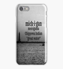 michigan iPhone Case/Skin