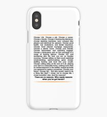 Trainspotting speech iPhone Case/Skin