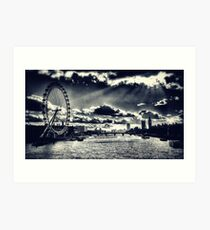 London Icons Black and White Art Print