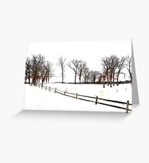 Midwest Winter Landscape Greeting Card