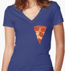 Nice Tasty Pizza Women's Fitted V-Neck T-Shirt