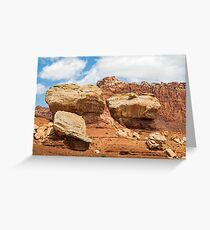 Giant Boulders at Capitol Reef Greeting Card