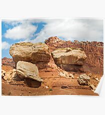 Giant Boulders at Capitol Reef Poster