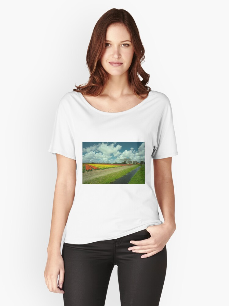 Spring Tulips  Women's Relaxed Fit T-Shirt Front