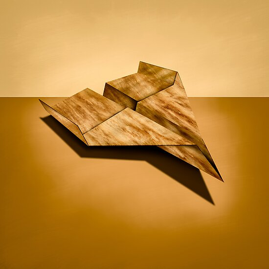 Paper Airplanes of Wood 5 by YoPedro